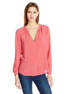 Velvet by Graham & Spencer Women's Challis Split Neck Blouse  M