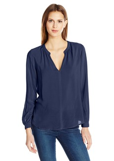 Velvet by Graham & Spencer Women's Challis Split Neck Blouse  XL