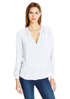 VELVET BY GRAHAM & SPENCER Women's Challis Split Neck Blouse  S