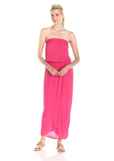 VELVET BY GRAHAM & SPENCER Women's Challis Strapless Maxi Dress