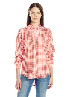 VELVET BY GRAHAM & SPENCER Women's Checks Button Down Shirt  M