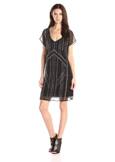 VELVET BY GRAHAM & SPENCER Women's Chiffon with Seed Beads Dress