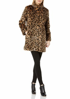 Velvet by Graham & Spencer Women's Chrissie Animal lux Fur Coat