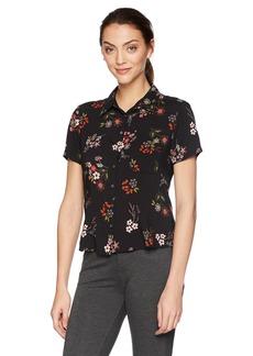 VELVET BY GRAHAM & SPENCER Women's Connie Floral Button Down Shirt  L