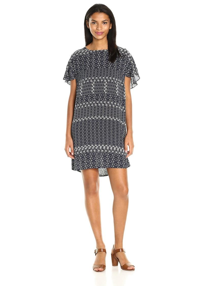 VELVET BY GRAHAM & SPENCER Women's Corsica Print V-Back Dress  L