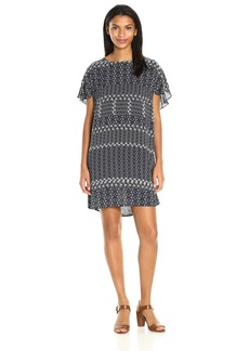 Velvet by Graham & Spencer Women's Corsica Print V-Back Dress  S