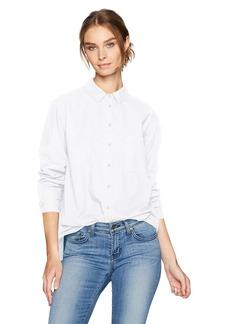 VELVET BY GRAHAM & SPENCER Women's Cotton Poplin Button Down Shirt  XS
