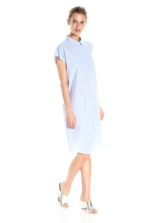VELVET BY GRAHAM & SPENCER Women's Cotton Poplin Shortsleeve Shirtdress  M