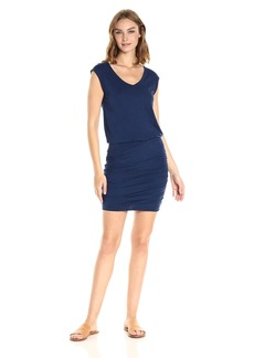 VELVET BY GRAHAM & SPENCER Women's Cotton Slub Blouson Dress  L