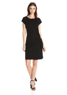 VELVET BY GRAHAM & SPENCER Women's Cotton Slub Knot Side Tee Dress  M