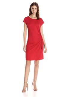 Velvet by Graham & Spencer Women's Cotton Slub Knot Side Tee Dress  XL