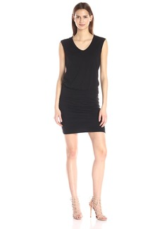 VELVET BY GRAHAM & SPENCER Women's Cotton Slub Ruched Skirt Dress
