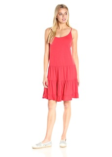 VELVET BY GRAHAM & SPENCER Women's Cotton Slub Tiered Cami Dress  L