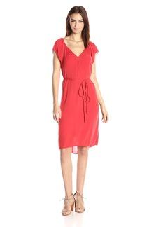 VELVET BY GRAHAM & SPENCER Women's Crinkle Gauze Flutter Sleeve Dress  L