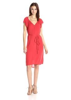 Velvet by Graham & Spencer Women's Crinkle Gauze Flutter Sleeve Dress  XL