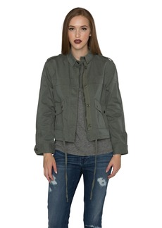 Velvet by Graham & Spencer Women's Cropped Army Jacket  L