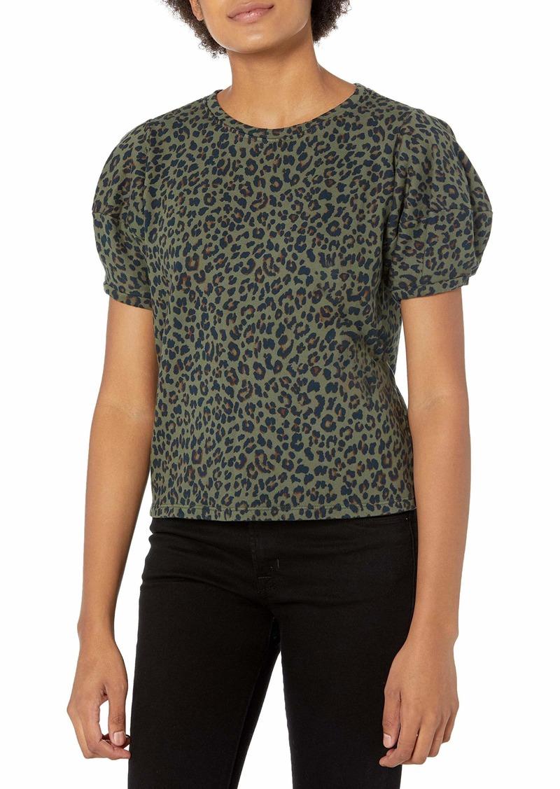 Velvet by Graham & Spencer Women's Dahlia Leopard Puff Sleeve Sweatshirt  XL