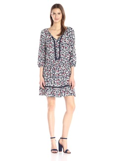VELVET BY GRAHAM & SPENCER Women's Dahlia-Print Dress
