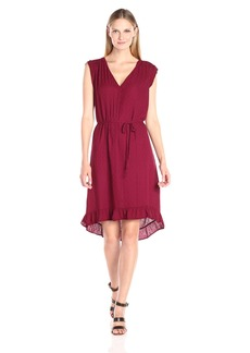VELVET BY GRAHAM & SPENCER Women's Damask Ruffle Hem Dress  M