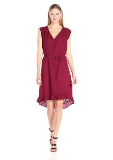 VELVET BY GRAHAM & SPENCER Women's Damask Ruffle Hem Dress  XS