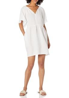 Velvet by Graham & Spencer Women's Danielle Woven Linen Dress  XL