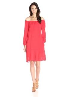 VELVET BY GRAHAM & SPENCER Women's Dobby Challis Peasant Dress