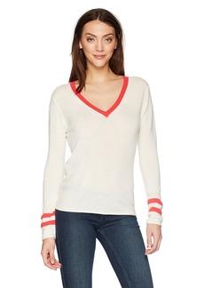 Velvet by Graham & Spencer Women's Elliana Cashmere Blend v-Neck Sweater  L