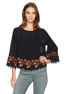 Velvet by Graham & Spencer Women's Embroidered Blouse  XL