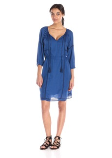 VELVET BY GRAHAM & SPENCER Women's Embroidered Crepe Dress