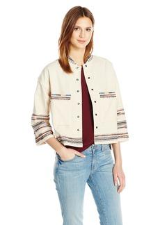 Velvet by Graham & Spencer Women's Embroidered Jacket  L
