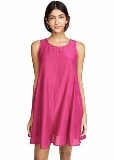 Velvet by Graham & Spencer Women's Esther Silk Cotton Voile Dress  L