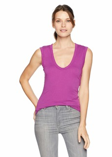 Velvet by Graham & Spencer Women's Estina Gauzy Whisper Classic Tank  L
