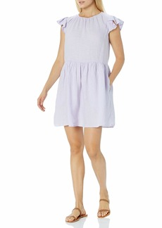 Velvet by Graham & Spencer Women's Evonne Flutter Sleeve Dress  S