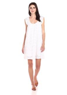 VELVET BY GRAHAM & SPENCER Women's Eyelet Flutter Sleeve Dress