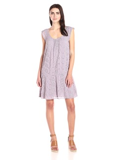 VELVET BY GRAHAM & SPENCER Women's Eyelet Flutter Sleeve Dress