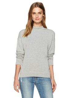 Velvet by Graham & Spencer Women's Fleece Mock Neck Pullover  L
