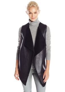 Velvet by Graham & Spencer Women's French Terry Sherpa Vest  X-Small