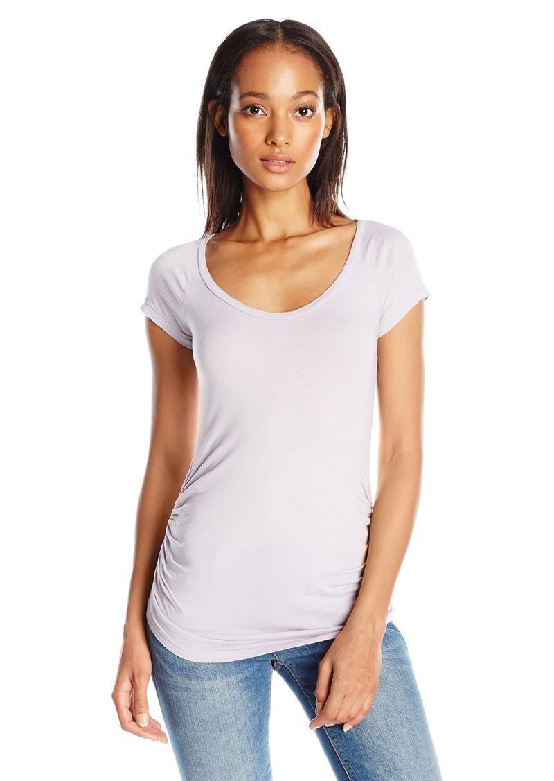 Velvet by Graham & Spencer Women's Gauzy Ruched T-Shirt