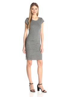 VELVET BY GRAHAM & SPENCER Women's Gauzy Whisper Capsleeve Dress  S