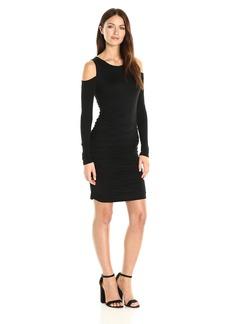 VELVET BY GRAHAM & SPENCER Women's Gauzy Whisper Cold Shoulder Dress  S