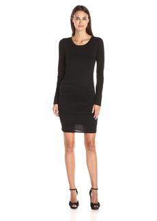 VELVET BY GRAHAM & SPENCER Women's Gauzy Whisper Ruched Dress  S
