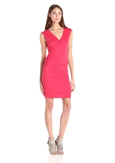 Velvet by Graham & Spencer Women's Gauzy Whisper Sleeveless Faux Wrap Dress