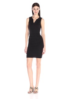 VELVET BY GRAHAM & SPENCER Women's Gauzy Whisper Split-Neck Sleeveless Dress