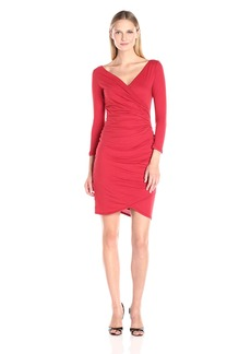 VELVET BY GRAHAM & SPENCER Women's Gauzy Whisper Surplice Dress  L