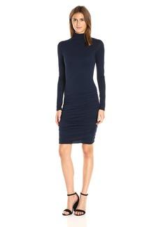 VELVET BY GRAHAM & SPENCER Women's Gauzy Whisper Turtleneck Dress  L