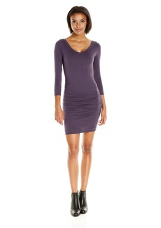 VELVET BY GRAHAM & SPENCER Women's Gauzy Whisper V-Neck Dress  L