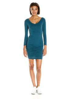 VELVET BY GRAHAM & SPENCER Women's Gauzy Whisper V-Neck Dress  XS