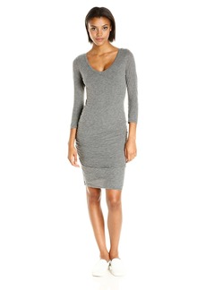 VELVET BY GRAHAM & SPENCER Women's Gauzy Whisper V-Neck Dress  XS