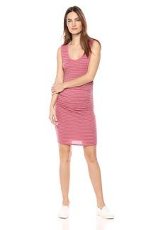 Velvet by Graham & Spencer Women's Genisa Stripe Cotton Knit Dress  M