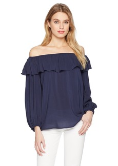 Velvet by Graham & Spencer Women's Ibby Off The Shoulder Blouse  M